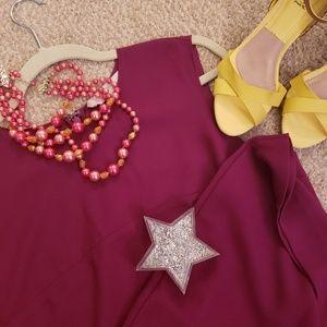 Raspberry Loft Sleeveless Dress